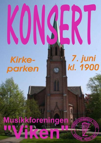 Konsert 7. juni 2017 - plakat