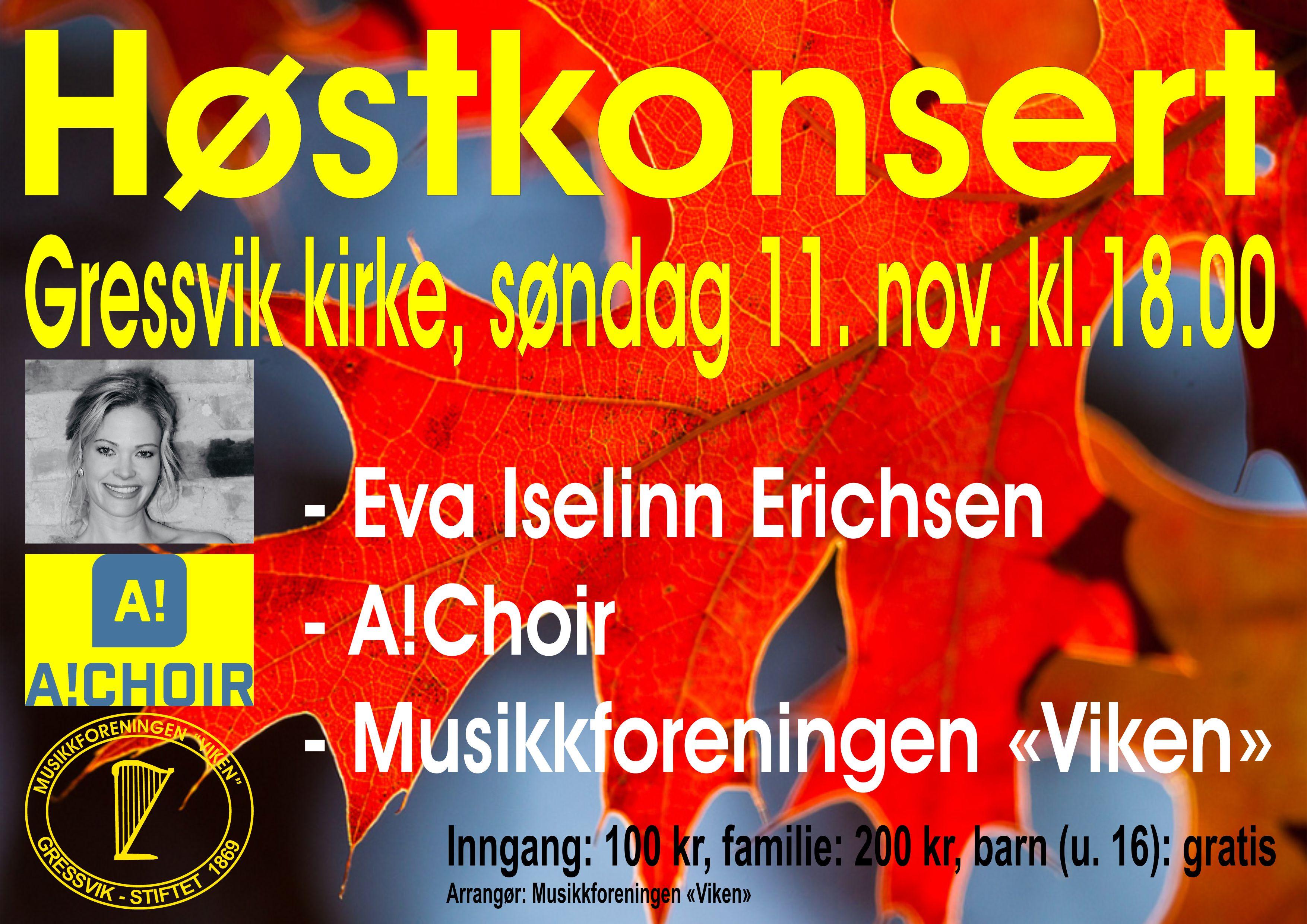 Høstkonsert 11.11.18-plakat